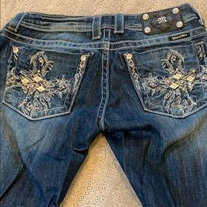 Women's Miss Me Jeans Size 27 BLING 🥰❤️